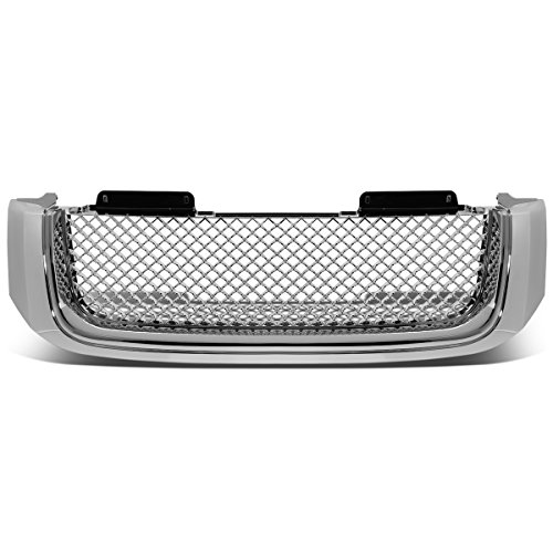 Envoy Denali Grill - For 02-09 GMC Envoy/XL ABS Plastic Bentley Style Mesh Front Bumper Grille (Chrome) - 2nd Gen