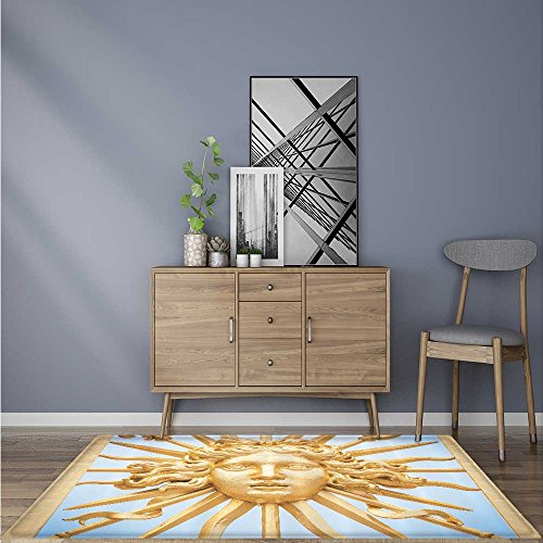 Home Area Rug Paris Palace Door European Architecture Chateau Versailles Golden Gate Sky for living room 5' X 8'
