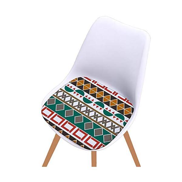Bledyi, Cuscino Quadrato colorato per Sedia, per Interni ed Esterni, per Soggiorno, Patio, Ufficio, 40 x 40 cm 2 spesavip