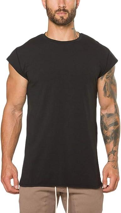 Camisetas Tirantes Hombre, Lunule Camiseta de Manga Corta de Músculo Aptitud Camiseta Deporte Hombre Gimnasio Crossfit Tops Deportivos para Hombre: Amazon.es: Ropa y accesorios