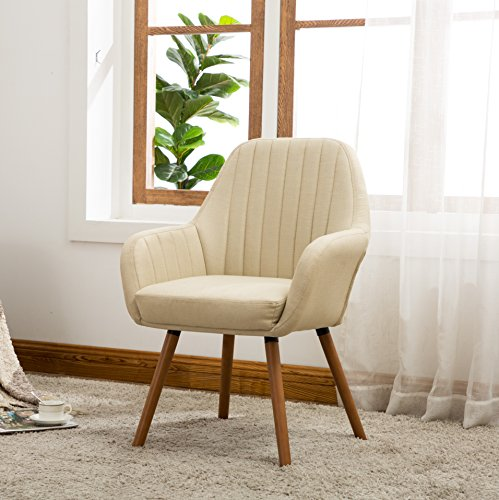 Roundhill Furniture AC151TA Tuchico Contemporary Fabric Accent Chair, Tan