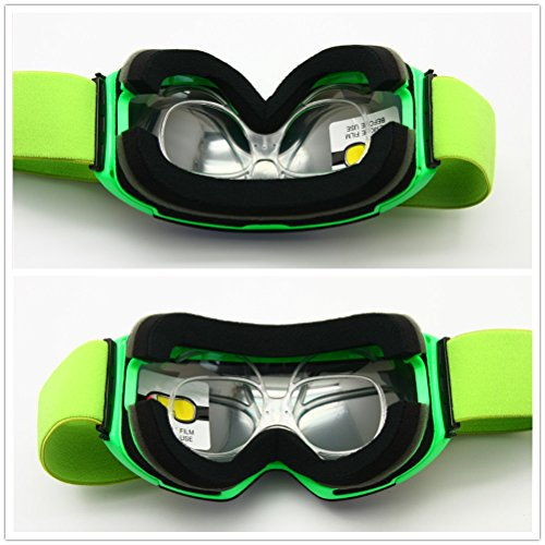3534be5fc2 Amazon.com  Prescription Ski Goggles Rx Insert Optical Adaptor TR90  Flexible Bendable Universal Size Inner Frame Snowboard Motorcycle Goggle   Sports   ...