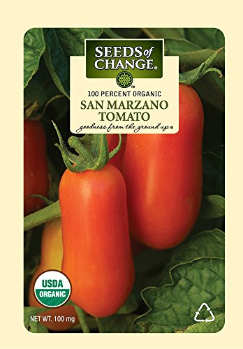 Tomato Seed Pack (Seeds of Change Certified Organic Tomato, San Marzano - 100 milligrams, 25 Seeds Pack)