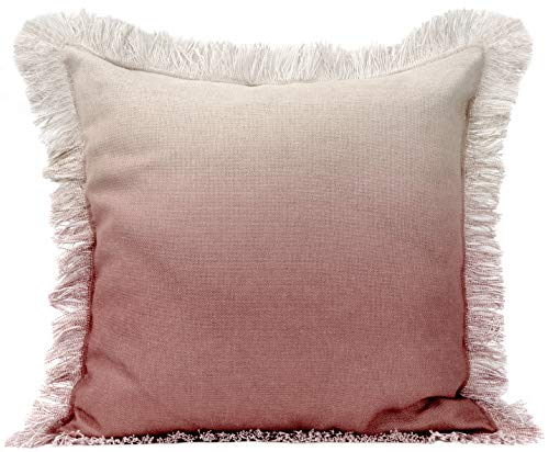 Urban Loft by Westex Ombre Fringe Blush Feather Filled Decorative Throw Pillow Cushion 20