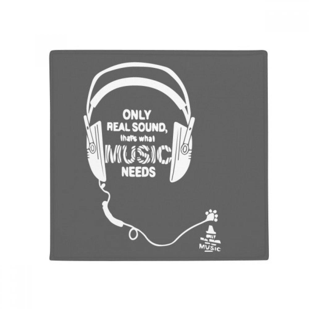 DIYthinker Music Earphone Song Sound Words Anti-Slip Floor Pet Mat Square Home Kitchen Door 80Cm Gift