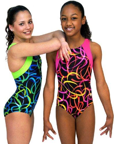 Confetti Gymnastics Leotard - Green (Adult Medium)