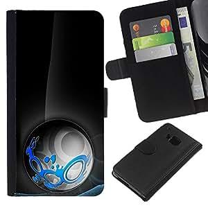 A-type (Extracto tribal) Colorida Impresión Funda Cuero Monedero Caja Bolsa Cubierta Caja Piel Card Slots Para HTC One M9