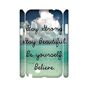 Stay Strong Brand New 3D Cover Case for Samsung Galaxy Note 2 N7100,diy case cover ygtg609194