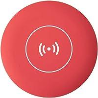 Lurrose LED Makeup Mirror Multifunctional Pocket Mirror, Adapt Wireless Charging Base (Red)