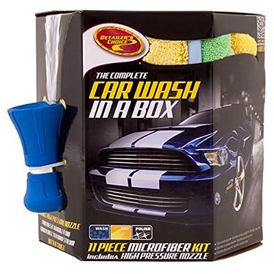 Detailer's Choice 11025 Microfiber Detailing Kit with Fire Hose Nozzle - 11-Piece: Automotive