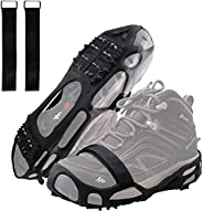Ice Cleats Snow Traction Cleats Crampon for Walking on Snow and Ice Non-Slip Overshoe Rubber Anti Slip Crampon