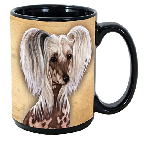 Hairless Chinese Crested - Imprints Plus Dog Breeds (A-D) Chinese Crested Hairless 15-oz Coffee Mug Bundle with Non-Negotiable K-Nine Cash (chinese crested hairless 058)