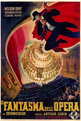 The Phantom of the Opera Poster Foreign 27x40 Nelson Eddy Susanna Foster Claude Rains
