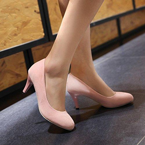 Aisun Donna Elegante Punta A Punta Tacco Basso A Spillo Con Tacco A Spillo Su Scarpe Da Sposa Scarpe Rosa