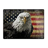 jiajufushi American Bald Eagle On Grunge FlagDoor Mat Front...