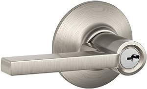 Schlage F51A LAT 619 Latitude Lever Keyed Entry Lock, Satin Nickel
