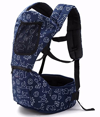 Baby Carriers for Waist 27 INCHES to 40 INCHES Ergonomic Baby Backpacks with Hip Seat for All Seasons,Infant & Toddlers, Adjustable Waist (Don't Choose Wrong Size) from honbeal