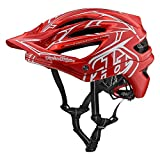 Troy Lee Designs A2 Pinstripe 2 Mountain Bike Adult Helmet 2018 with MIPS Protection and X-Static Liner meets/exceeds CPSC CE-EN AS/NZS X-Large/2X-Large Red