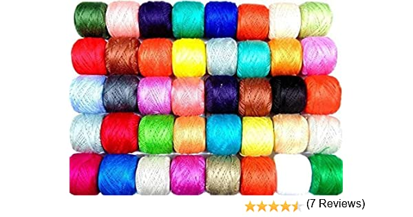 Bolas de hilo de ganchillo de algodón con diseño de ancla, 50 unidades J & P tamaño 8, 85 metros cada una.: Amazon.es: Hogar