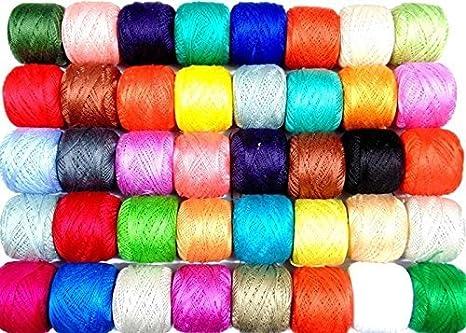 New 50 X Anchor Pearl Cotton Crochet Threads Balls J P Size 8 85