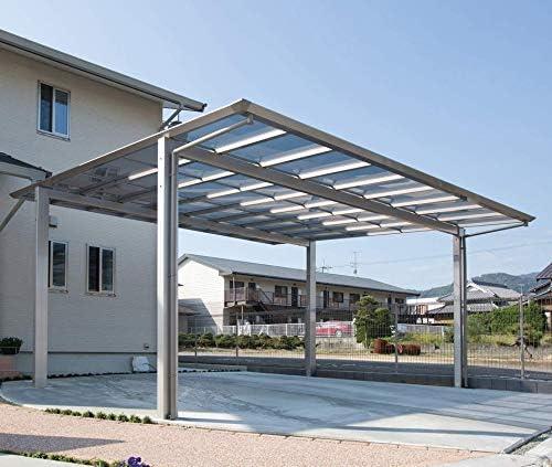 2台用フラット屋根カーポート 間口5516mm×奥行5775mm×最大高さ2800mm ポリカ屋根 フラットポート5558 安心の日本製 DIY 送料無料
