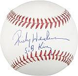 Rickey Henderson Oakland Athletics Autographed Baseball with SB King Inscription - Fanatics Authentic Certified