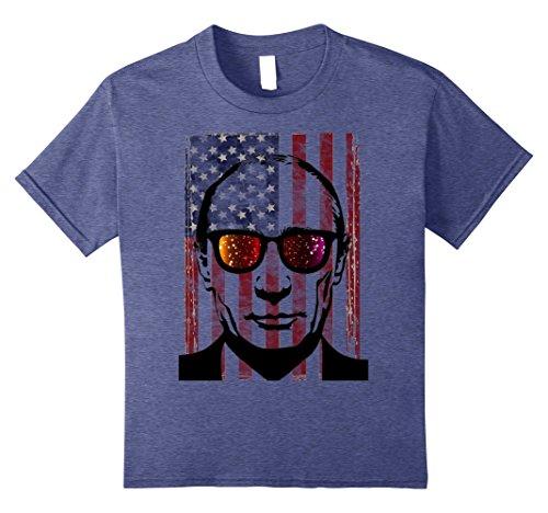 Kids Merica Funny Putin patriotic Hip American T-shirt 12 Heather - Sunglasses Putin