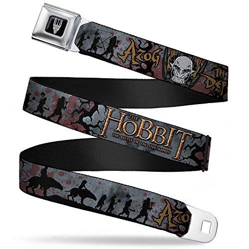 Buckle-Down Seatbelt Belt - THE HOBBIT-THE BATTLE OF THE FIVE ARMIES/Hunter Orcs Silhouette/Blood Splatter - 1.5