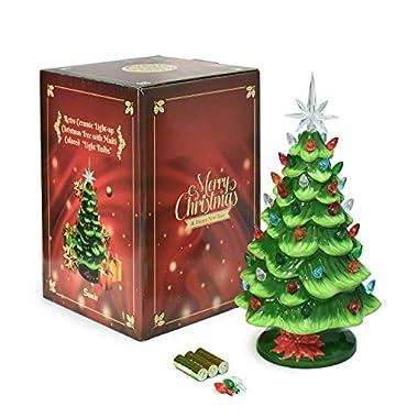 Mini Ceramic Christmas Tree With Lights