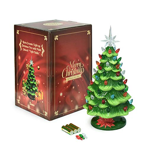 cordless lighted ceramic christmas tree vintage tabletop used for sale delivered anywhere in usa