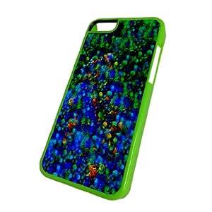 iPhone 5C Green Case - Flowers Psychadelic