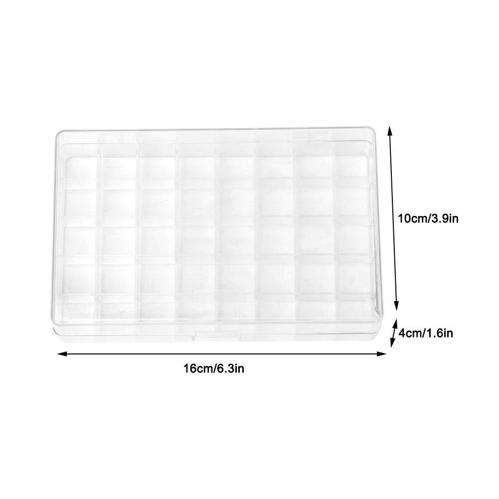40 compartimentos Caja de almacenamiento de joyer/ía con divisores Caja de almacenamiento de rejilla m/últiple Contenedor Caja de joyer/ía de pl/ástico