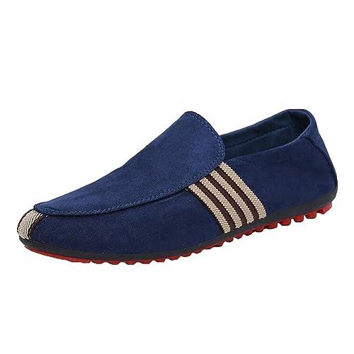 Yying Mocasines Para Hombre - Respirable Slip On Zapatos de Conducción Al Aire Libre Calzado Moda Low Top Casuales Zapatos: Amazon.es: Zapatos y ...