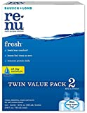 Bausch + Lomb ReNu Fresh All Day Moisture Multi-Purpose Eye Contact Lens Solution 12 Fluid Ounces (Pack of 2)