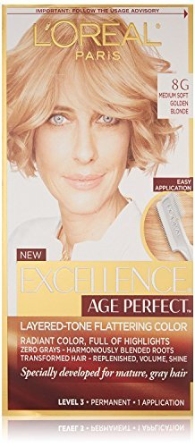 L'Oreal Excellence Age Perfect Layered-Tone Flattering Hair Color - #8G Medium Soft Golden Blonde