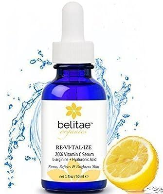 BELITAE Vitamin C Serum with Hyaluronic Acid - Repair Sun Damage, Age Spots