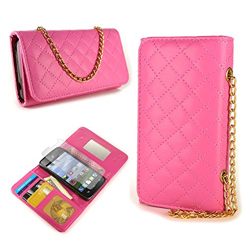 CoverON for ZTE Zephyr / Paragon Wallet Case [ClutchCase Series] Soft Flip Credit Card Phone Cover Purse Pouch (Hot Pink) with Screen Protector