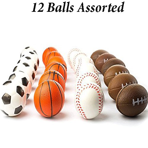 s Balls Stress Relief Squeeze Therapy (1 Dozen) (Baseball Stress Ball)
