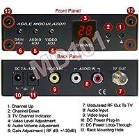 Universal NTSC PAL Composite RCA A/V To RF TV Channel Converter