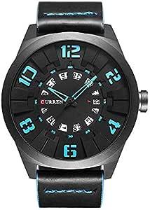 Curren Men Analog Leather Watch 8258