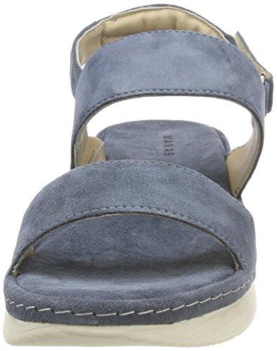 Manas Itaca Blau 003 Jeans alla Donna Sandali Cinturino con Caviglia rr4wqHxZd