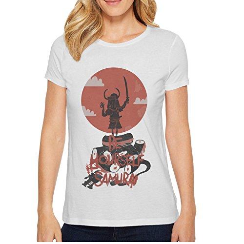 xs4tdg563kfu Be Yourself Samurai Warrior Armor Serpent Womens Short Sleeve T-Shirt Casual Printed Short Sleeve (Samurai Warrior Armor)
