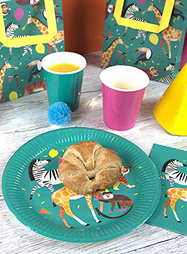 Perfect for Jungle Animal Paper Plates Napkins /& Masks Talking Tables Zoo Party Bundle Farm /& Circus Theme Childrens Birthday Parties
