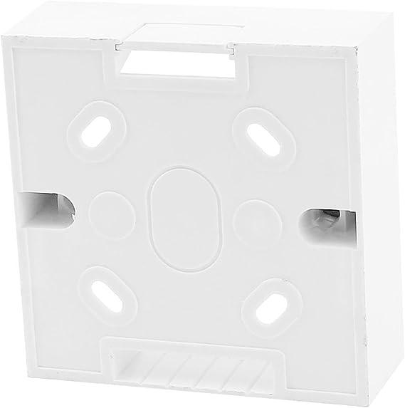 sourcingmap® RJ45 Cat5e Cat6 red Ethernet zócalo de pared Caja para montaje en la placa blanca: Amazon.es: Bricolaje y herramientas