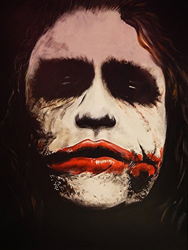Buyartforless Why SO Serious Poster by Ed Capeau 24x18 Giclee Art Print Joker Wall Decor Made in The USA!]()