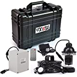 Vanxse Underwater Fish Camera System 7'' TFT LCD Sony CCD 1200tvl Hd Underwater Video Camera Fish Finder 360 Degree View, Remote Control fishing view camera (50Meters Cable)