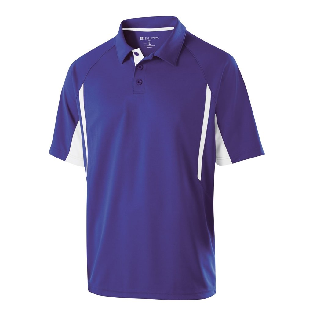Holloway Dry Excel Avenger Polo (XXX-Large, Purple/White) by Holloway
