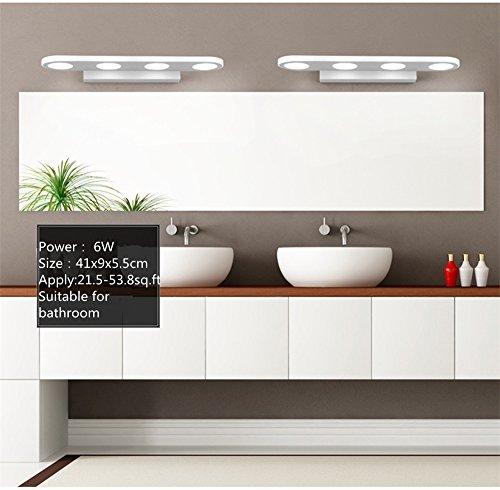 AFSEMOS 12W Bathroom Vanity Light, Modern Make up Mirror Light, Fashion LED Wall Light, Cabinet Mirror Light, 4-Lights Cool White 900 Lumen Bathroom Bedroom Lighting