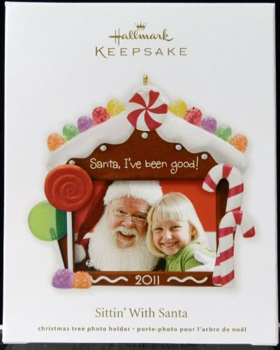 Hallmark Photo Holder (2011 Hallmark Sittin With Santa photo holder Ornament)