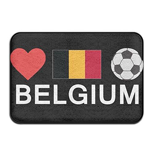 Fuucc-6 Inside & Outside Floor Mat Belgium Football Belgium Soccer Design Pattern For Bathroom by Fuucc-6